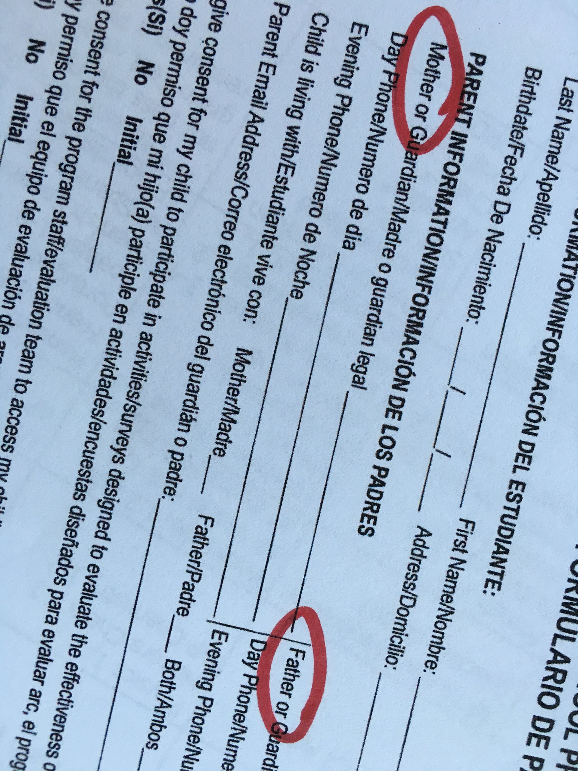 Filling Out Those Damn School Forms