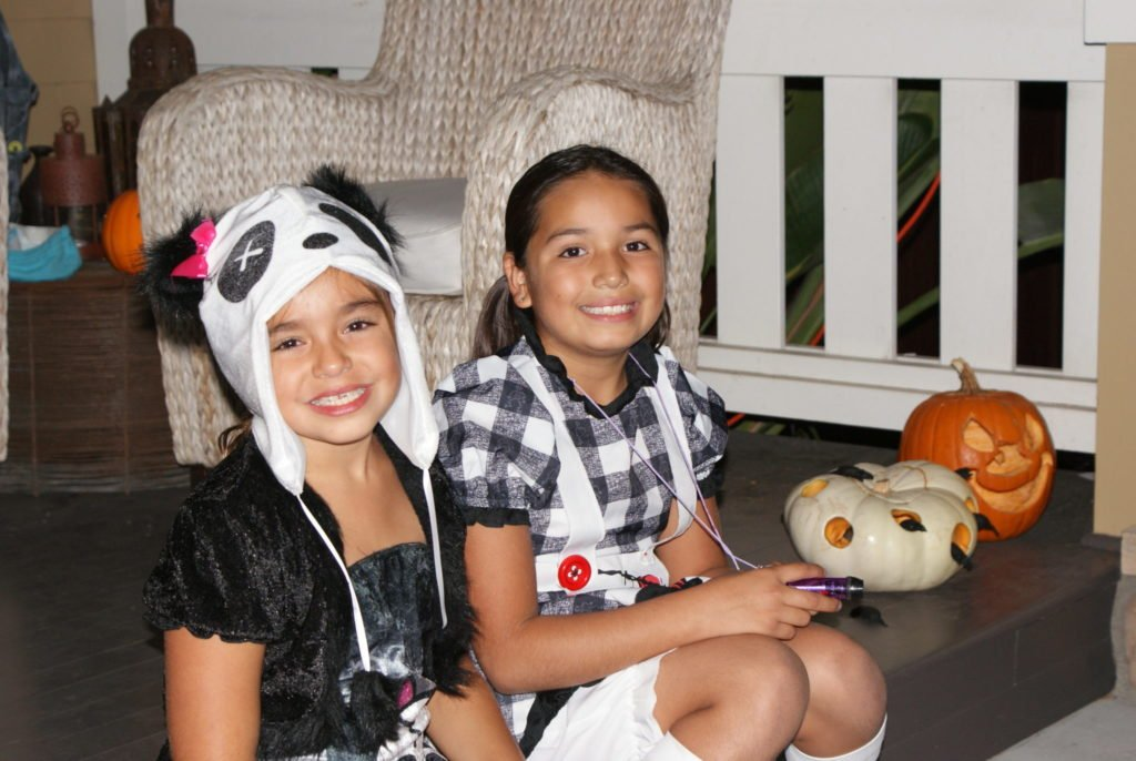 Dead Panda and Dead Alice in Wonderland costumes