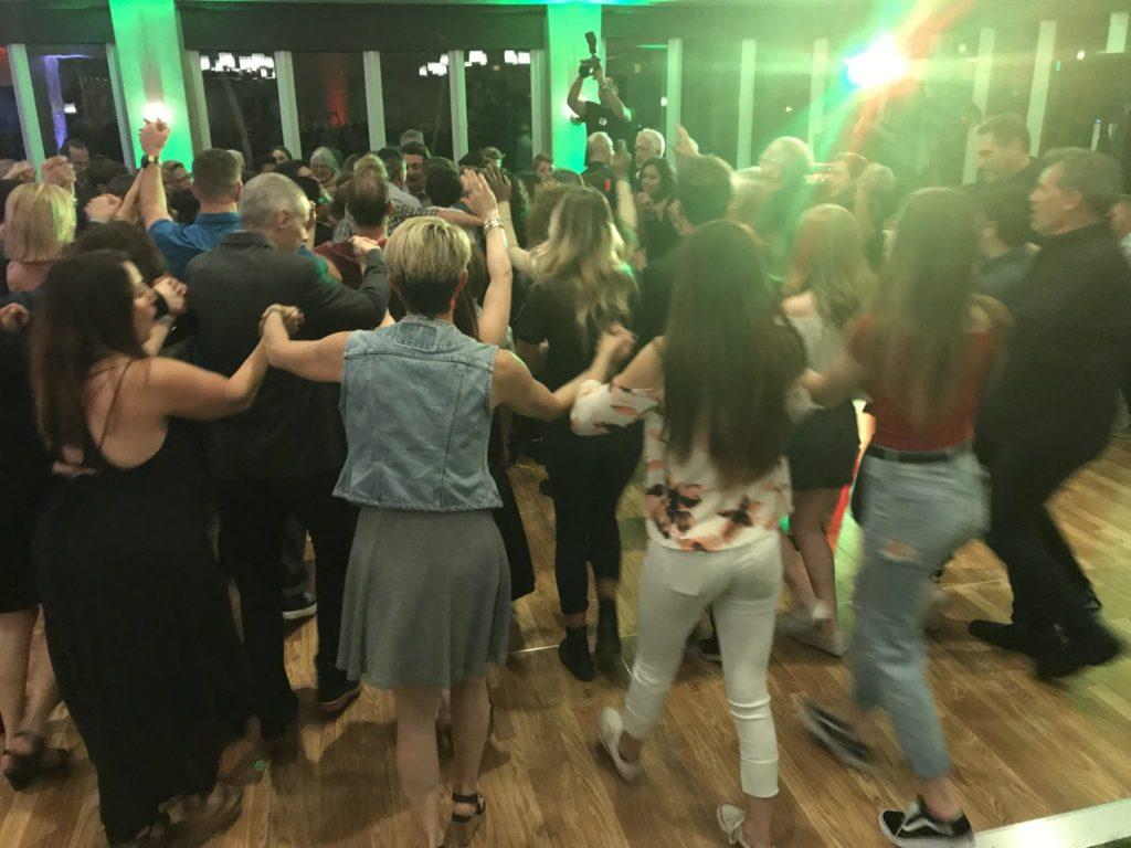 Bar Mitzvah crowds dancing