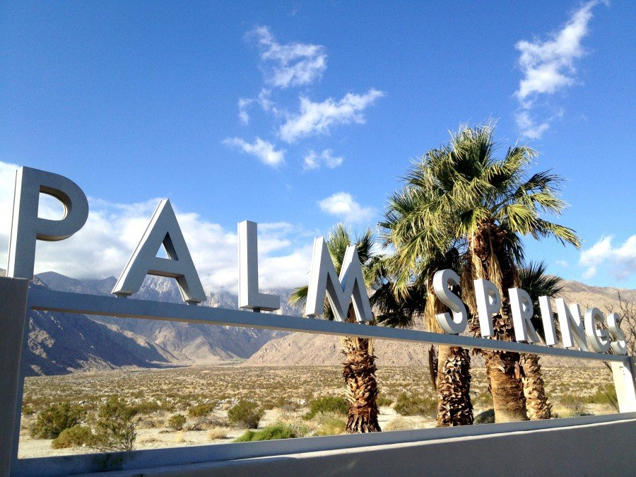 entering Palm Springs