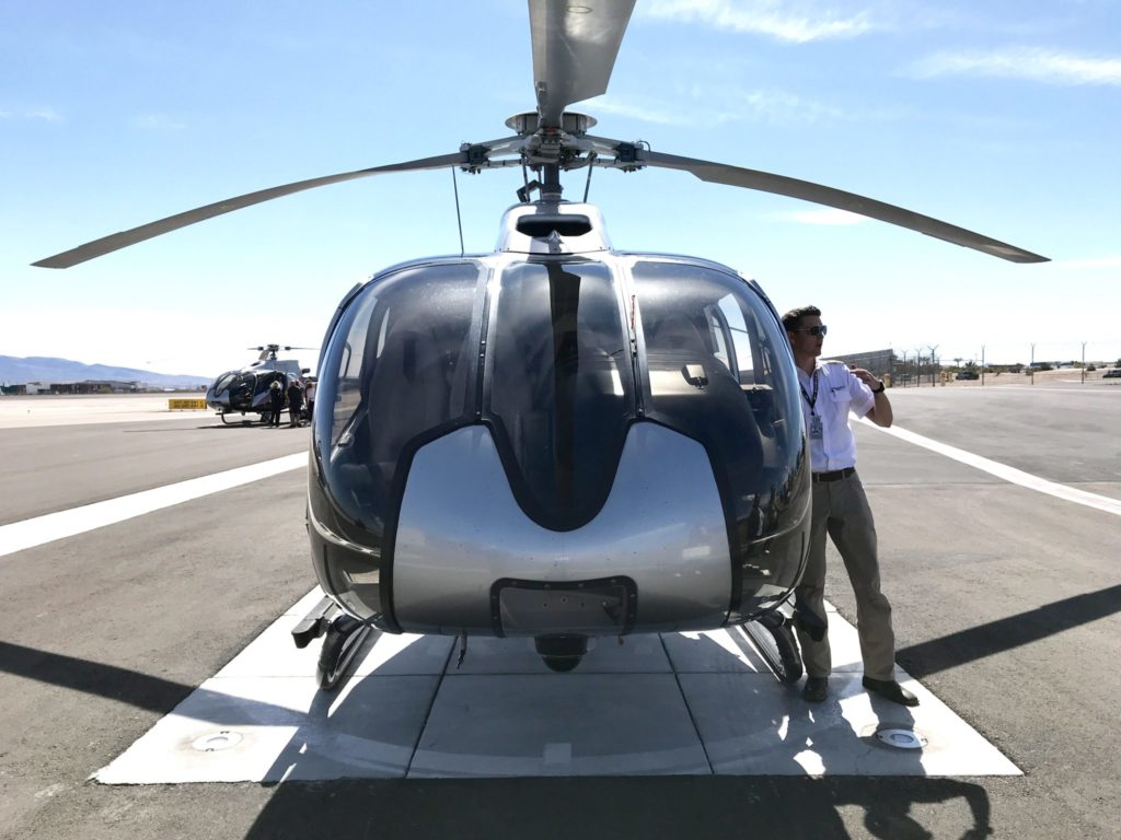 safety briefing at Maverick Helicopters