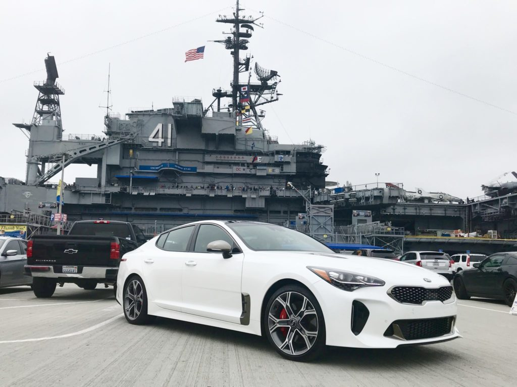 USS Midway Museum with Kia Stinger