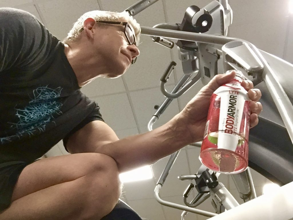 Working out with BODYARMOR LYTE