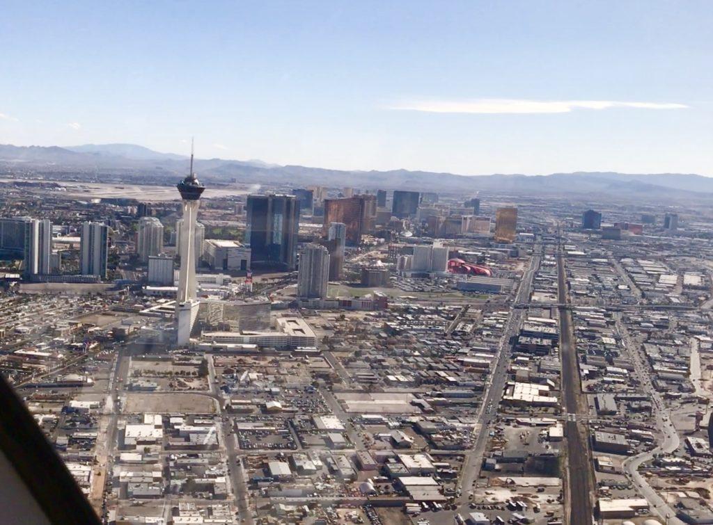 Las Vegas Strip birds eye view