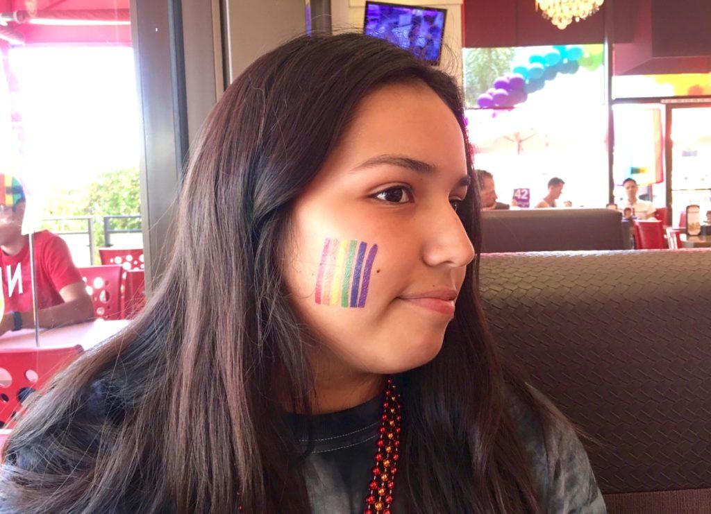 San Diego Pride rainbow tattoo