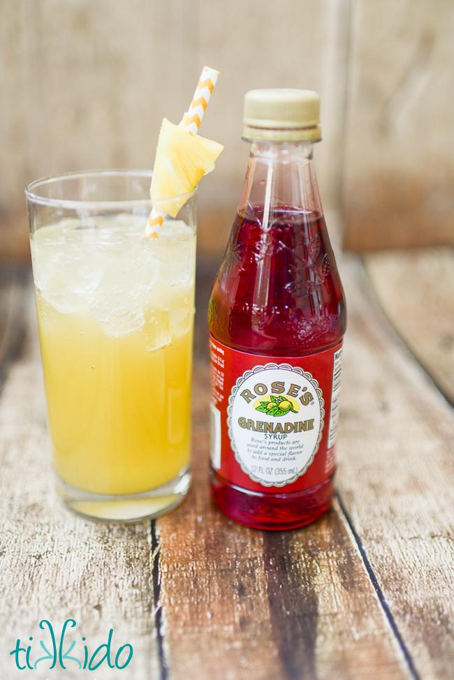 Pineapple Coconut Rum Summer Cocktail