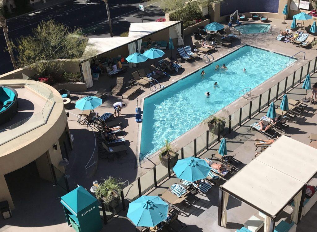 Pool view at Hyatt Palm Springs