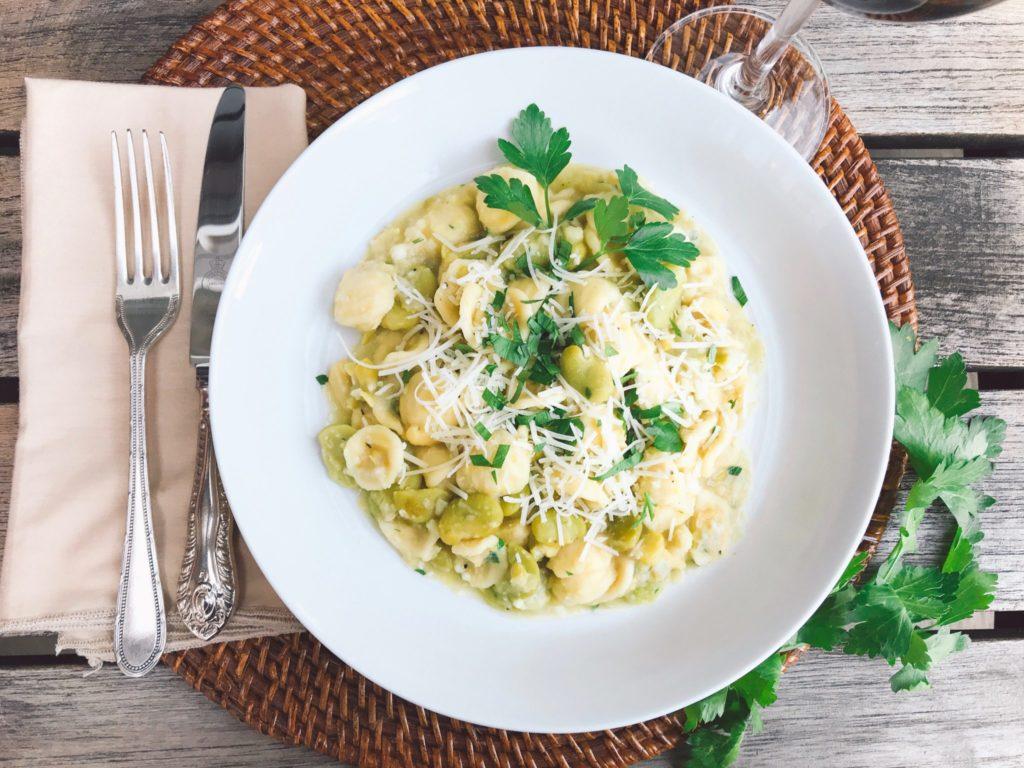 Sicilian Pasta with Fava Beans Recipe