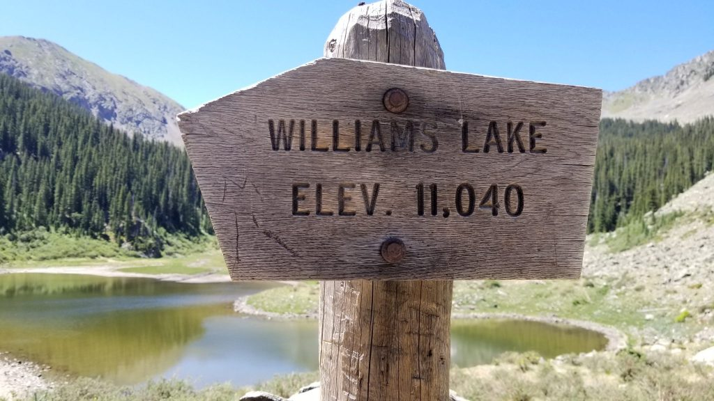 Williams Lake near Taos, New Mexico