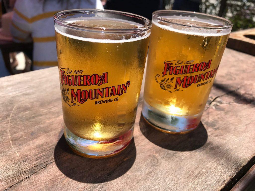 beer flight at Figueroa Brewing Company