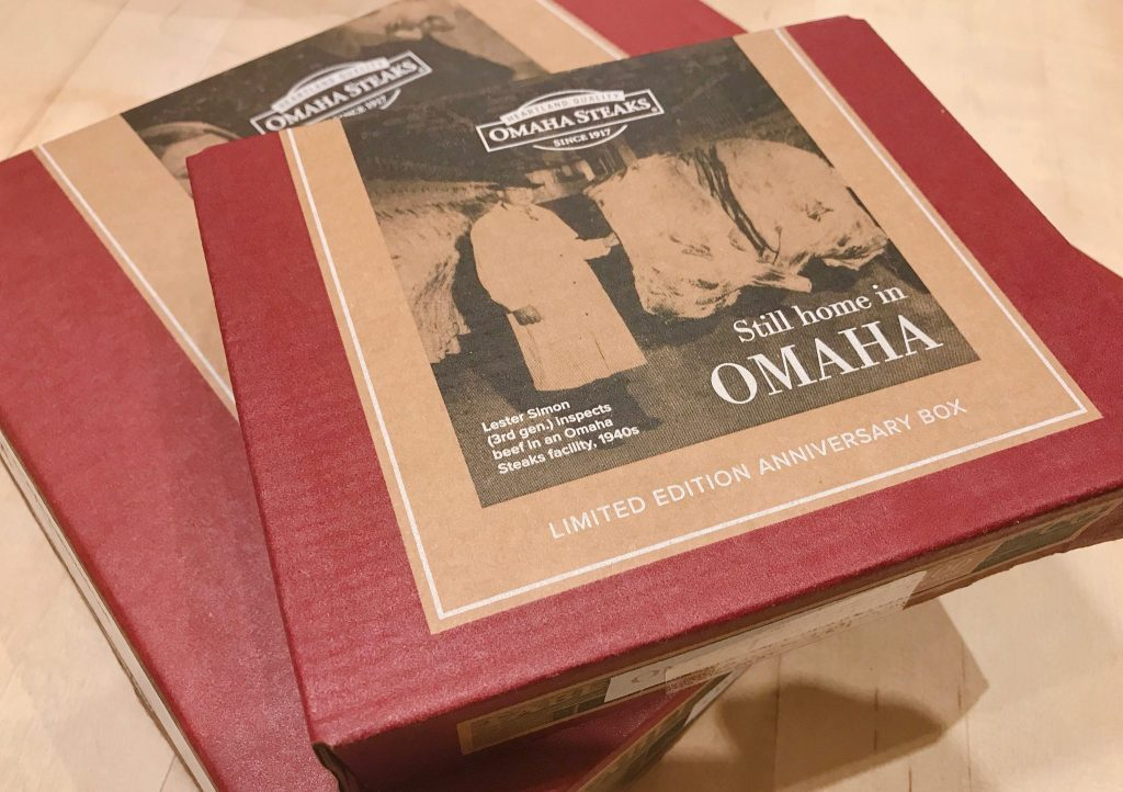 boxes of Omaha Steaks