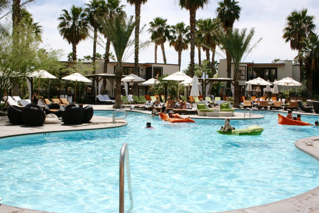 pool at Riviera Hotel Palm Springs