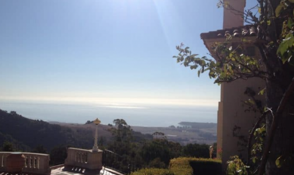 Hearst Castle view of California coast