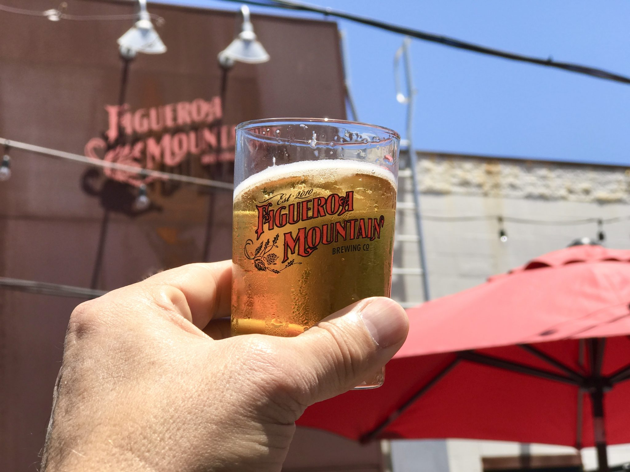 beer tasting at Figueroa Mountain Brewing Co.
