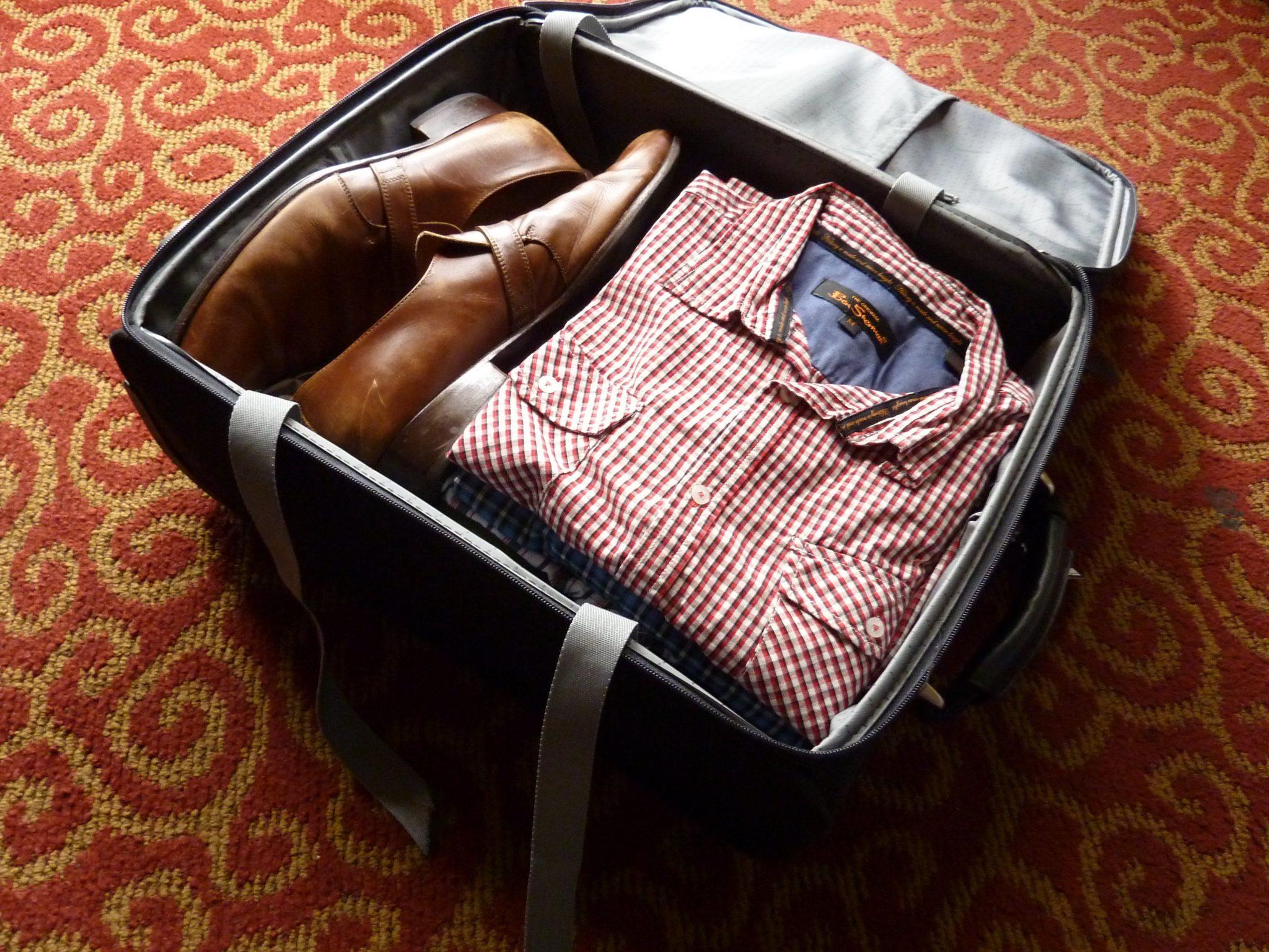 organized man's suitcase