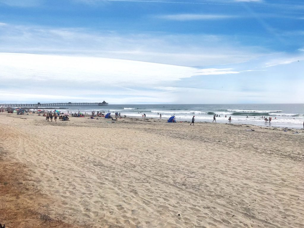 beach and waves at Imperial Beach