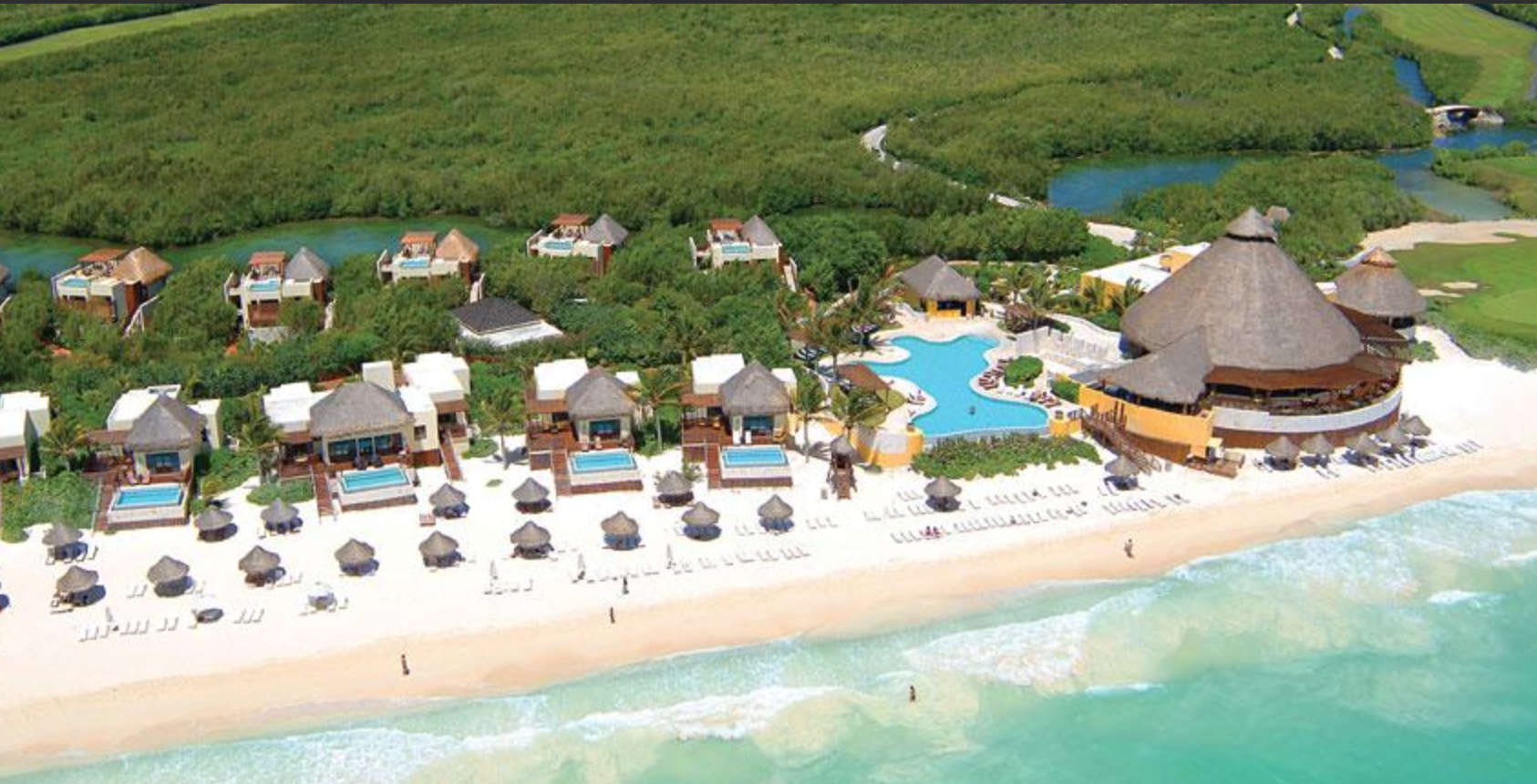 Fairmont Hotel Mayakoba aerial