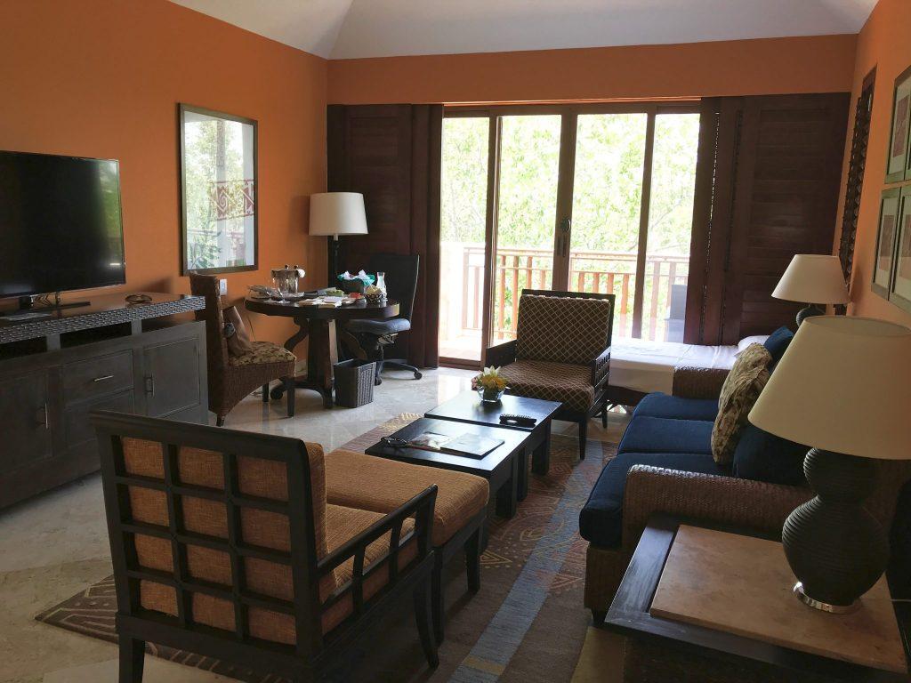 Casita living room at Fairmont Hotel Mayakoba