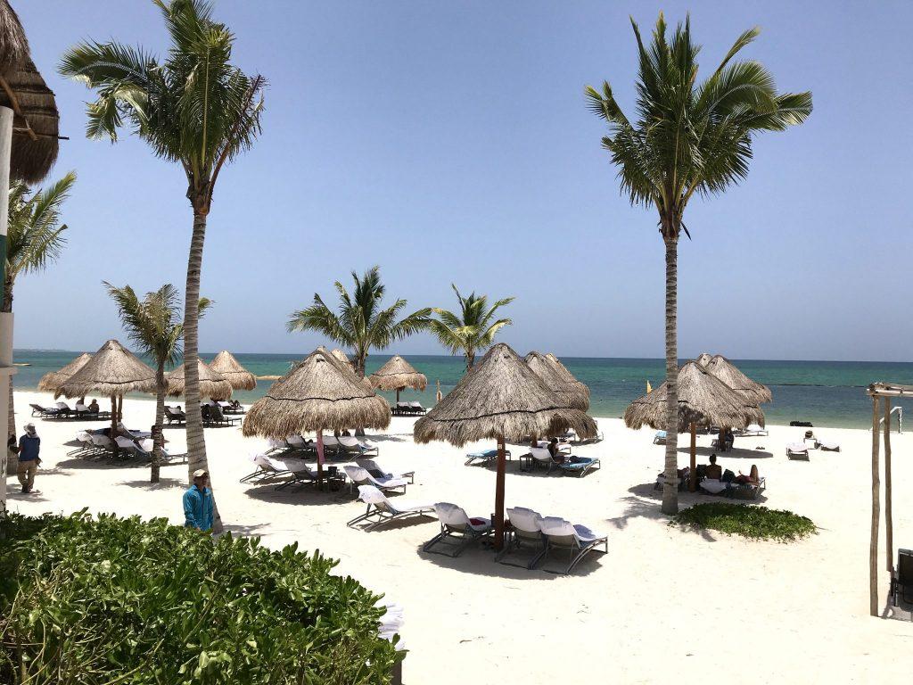 beach club at Fairmont Hotel Mayakoba