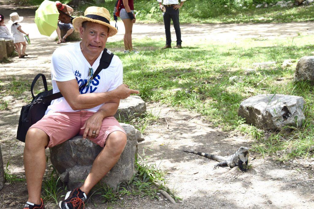 Chichen Itza iguanas