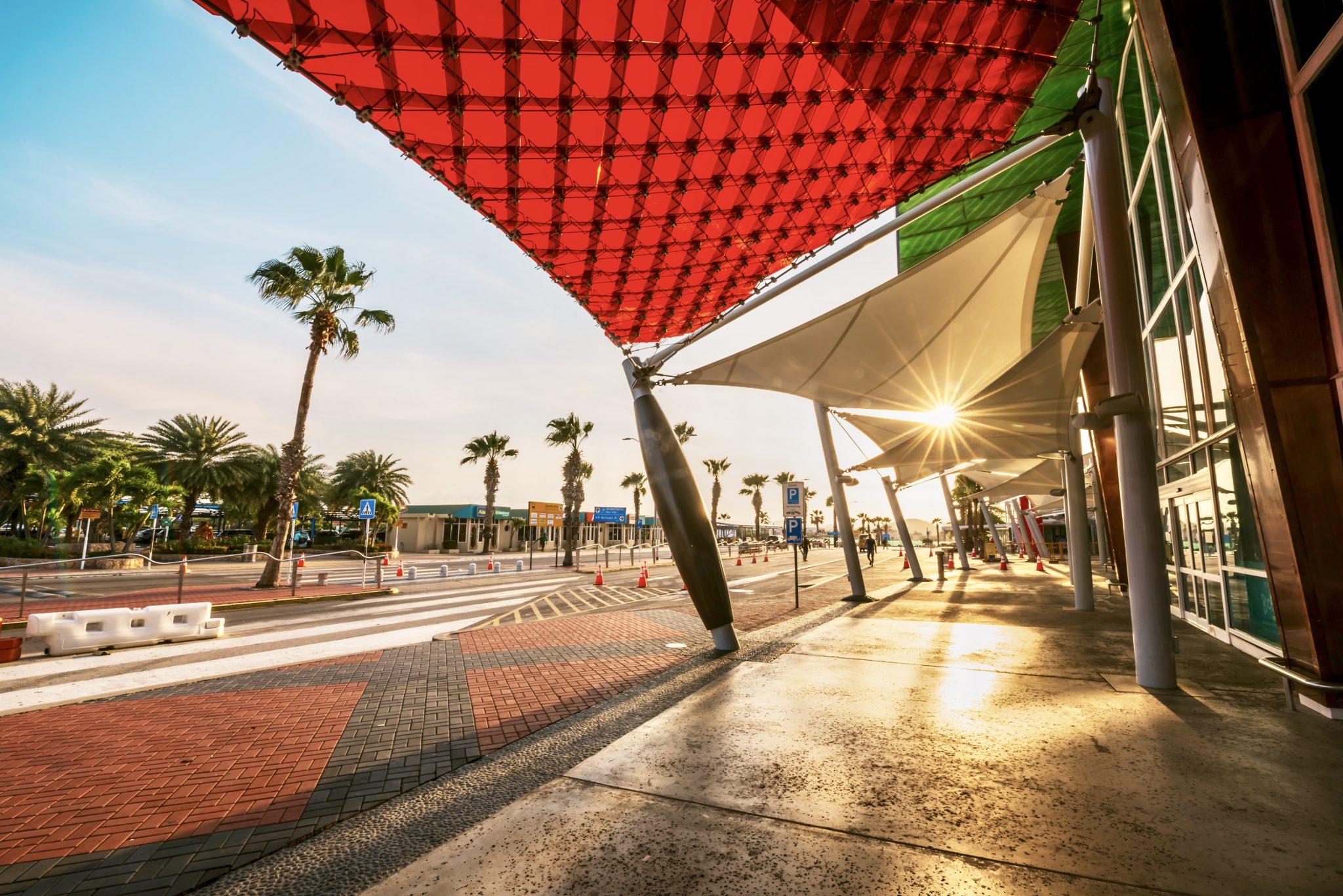 Queen Beatrix International Airport departures entrance