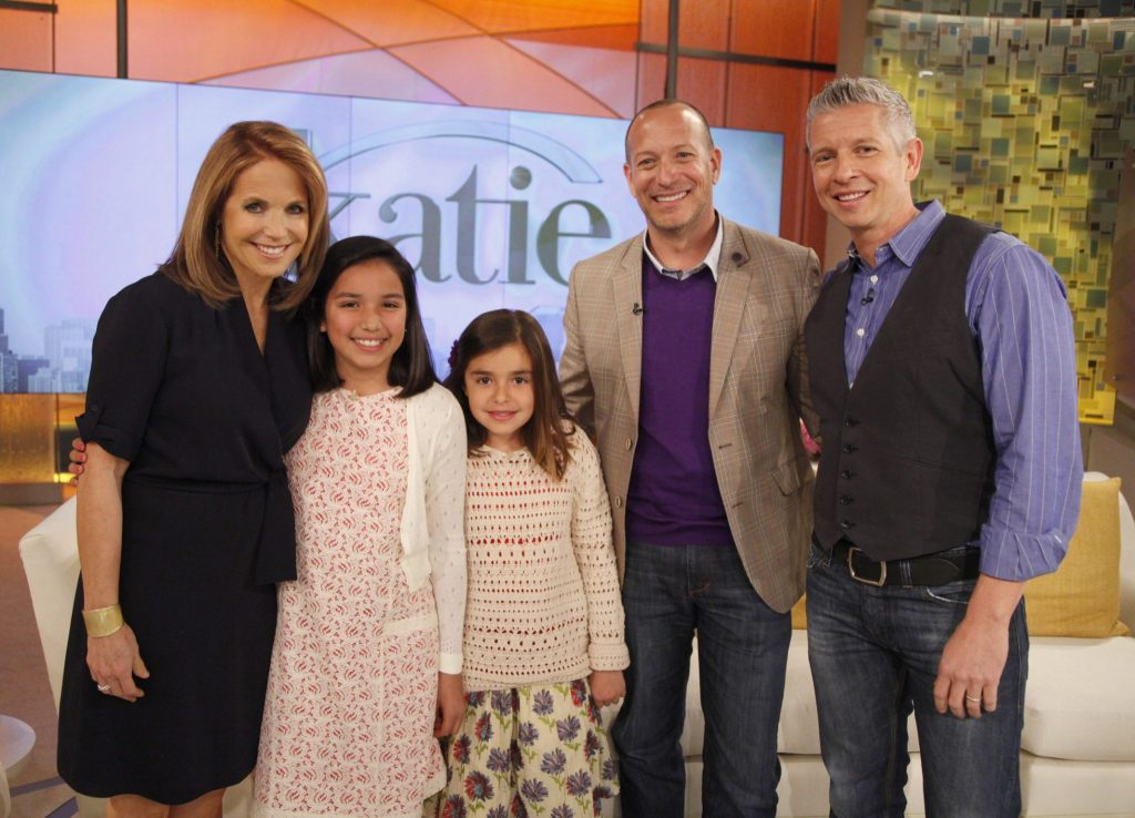 Bailey-Klugh family with Katie Couric