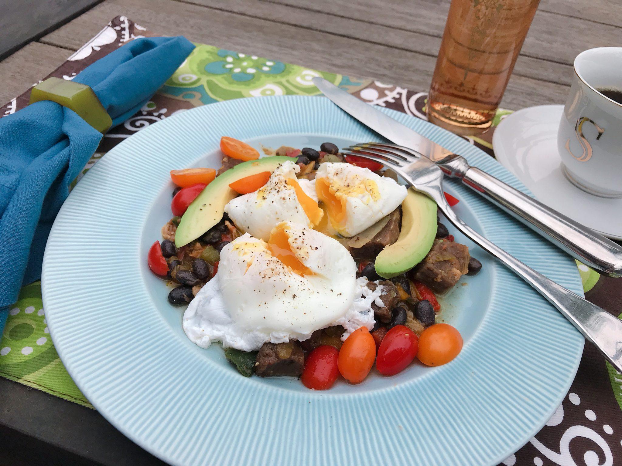 Ranchero Steak & Beans breakfast skillet Omaha Steaks