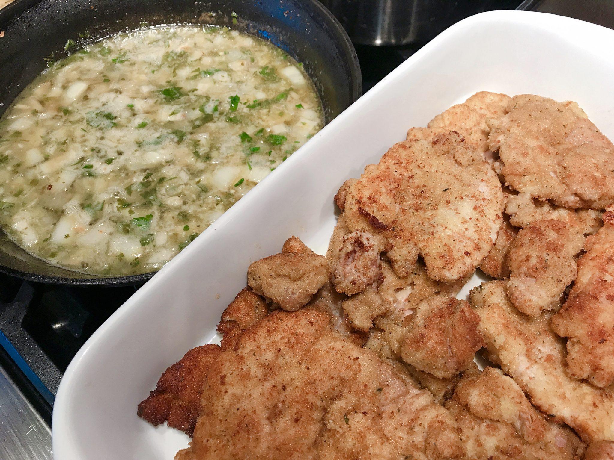 making chicken piccata