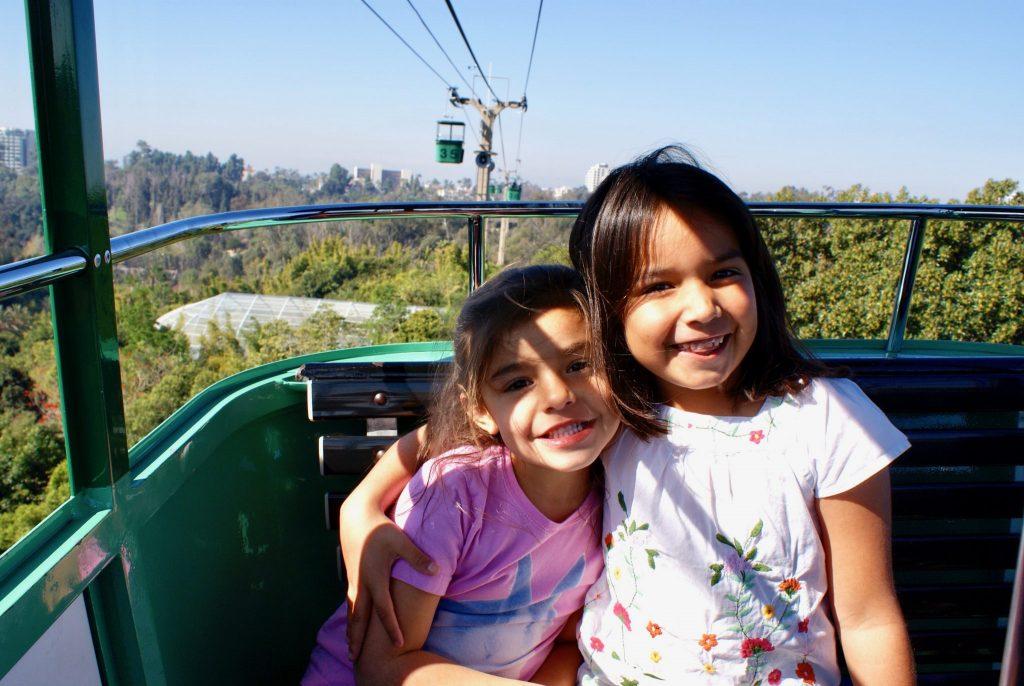 girls in Skyfari Ride at San Diego Zoo