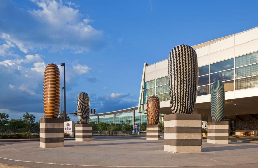Jun Kaneho art installation Hilton Omaha