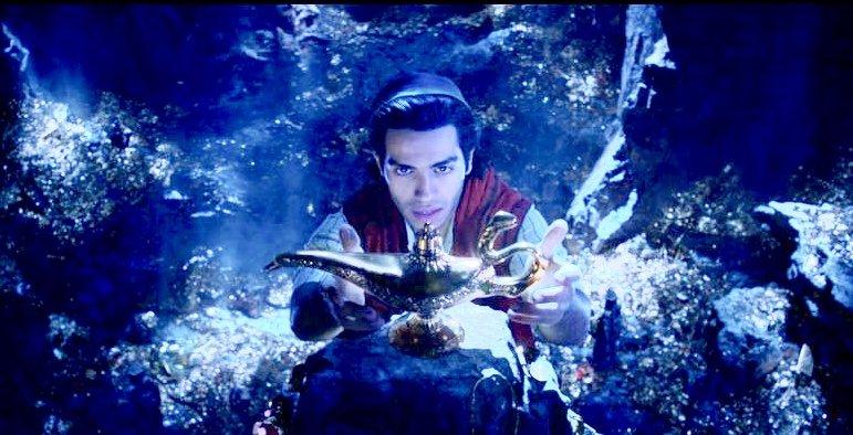 Disney's Aladdin reaches for the golden lamp
