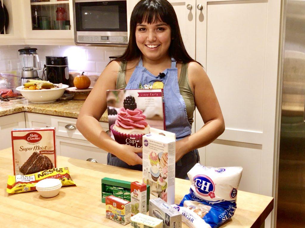 baking chocolate mint cupcakes