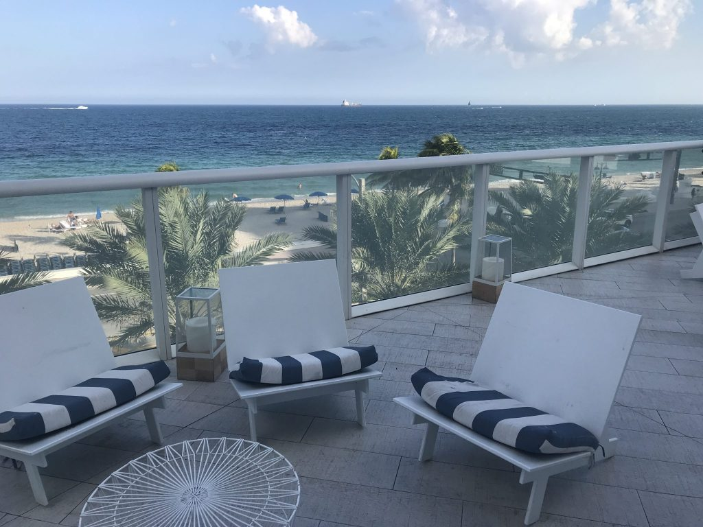 patio at W Hotel Fort Lauderdale