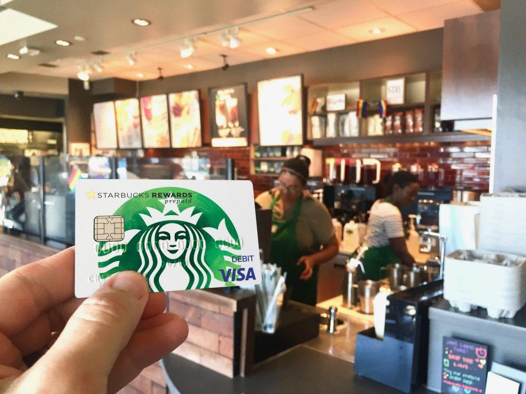 Chase Visa Starbucks reward card