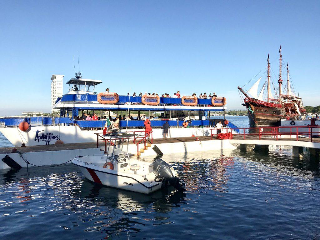 Vallarta Adventures boat to Las Caletas Puerto Vallarta