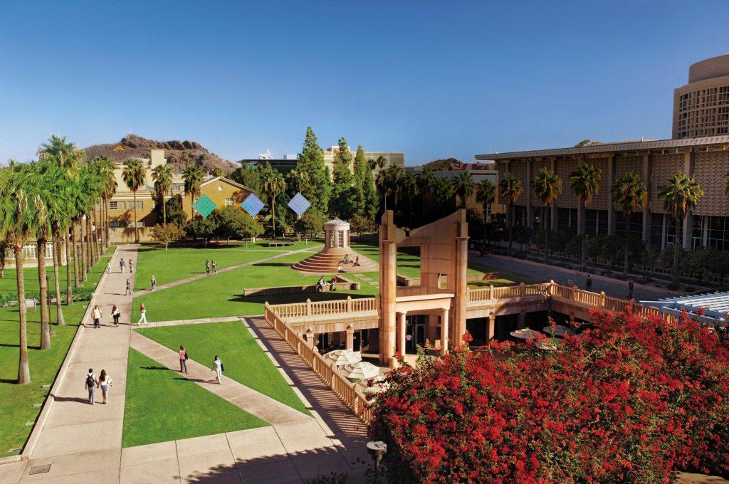 Hayden Library exterior Arizona State University