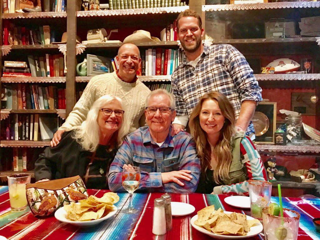 family dinner at El Charro Cafe Tucson