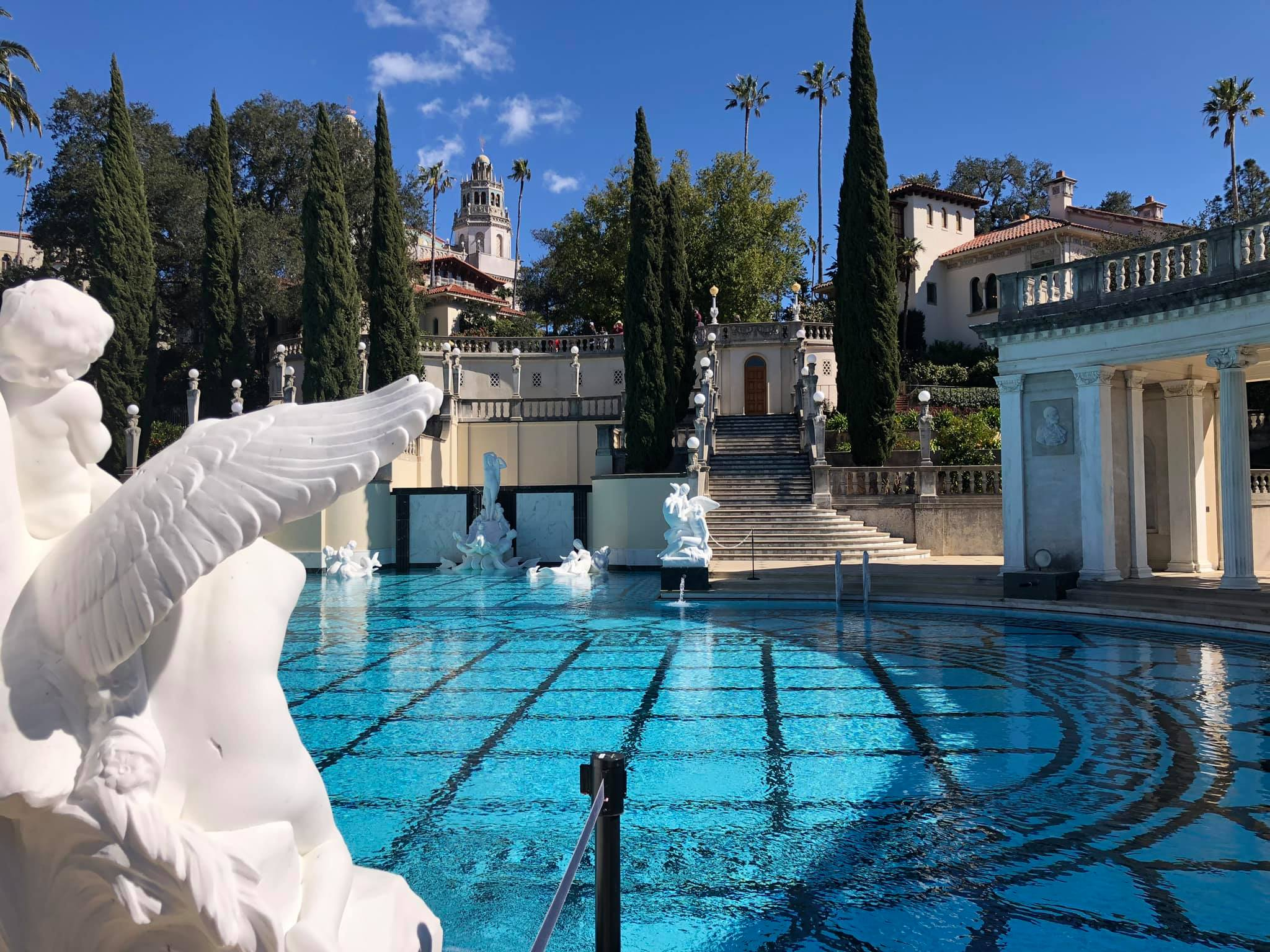 outdoor swimming pool at Hearst Castle in San Simeon, California