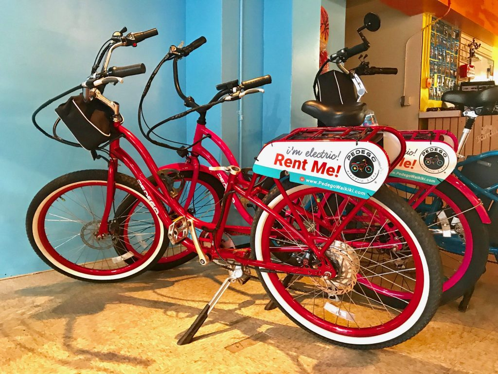 Pedego Waikiki electric bicycle rentals