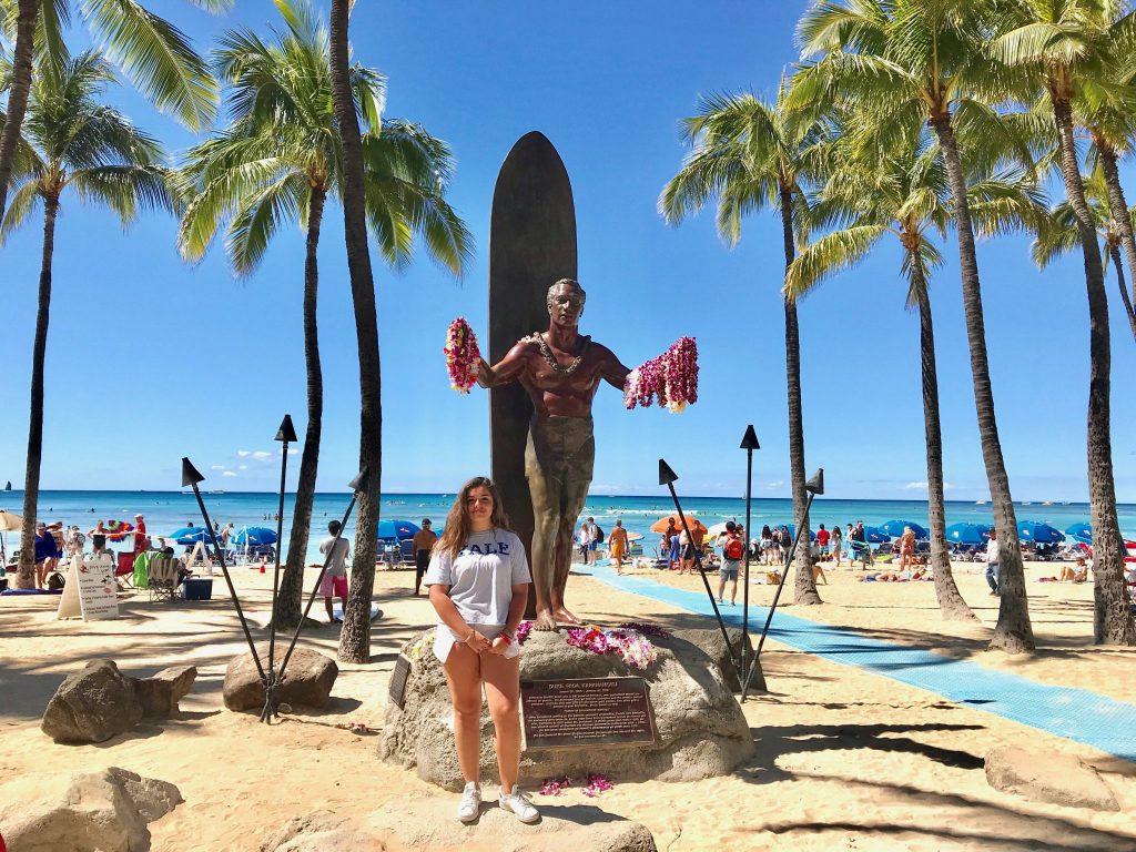 Duke Kahanamoku statue Waikiki Beach Honolulu