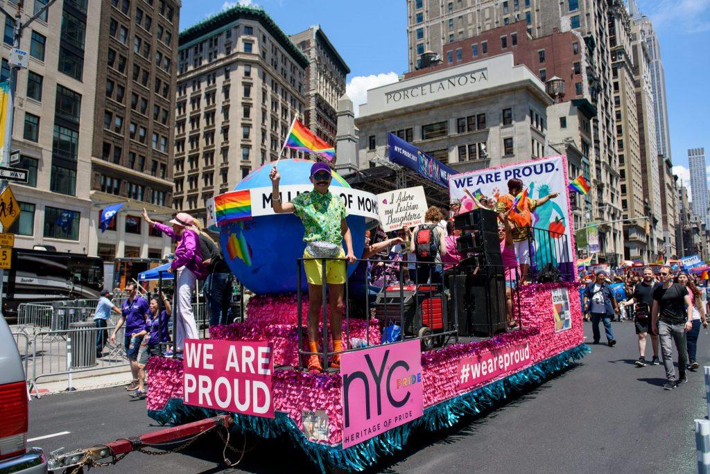 parade float NYC Pride March