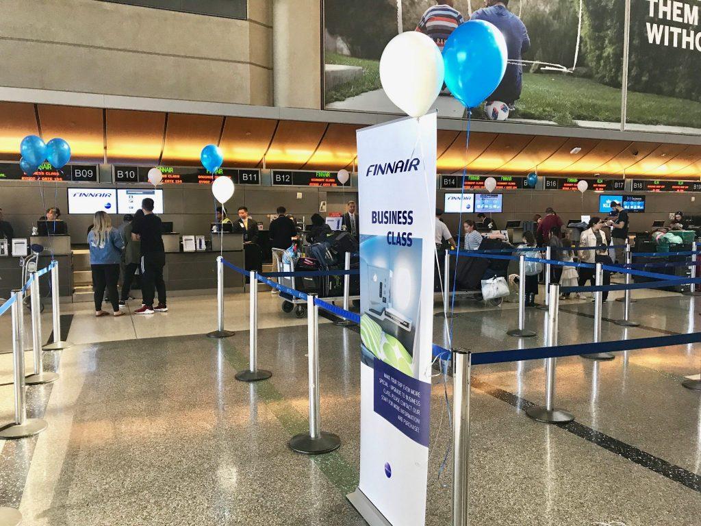 Finnair check-in counter LAX
