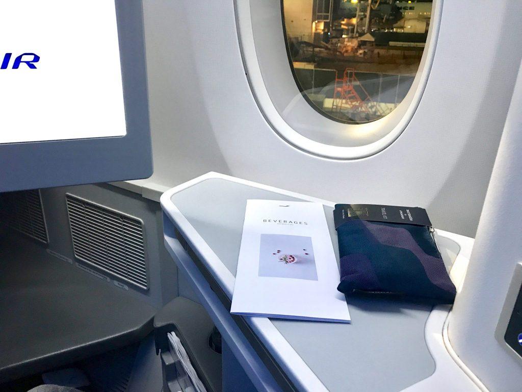 Finnair Business Class amenities