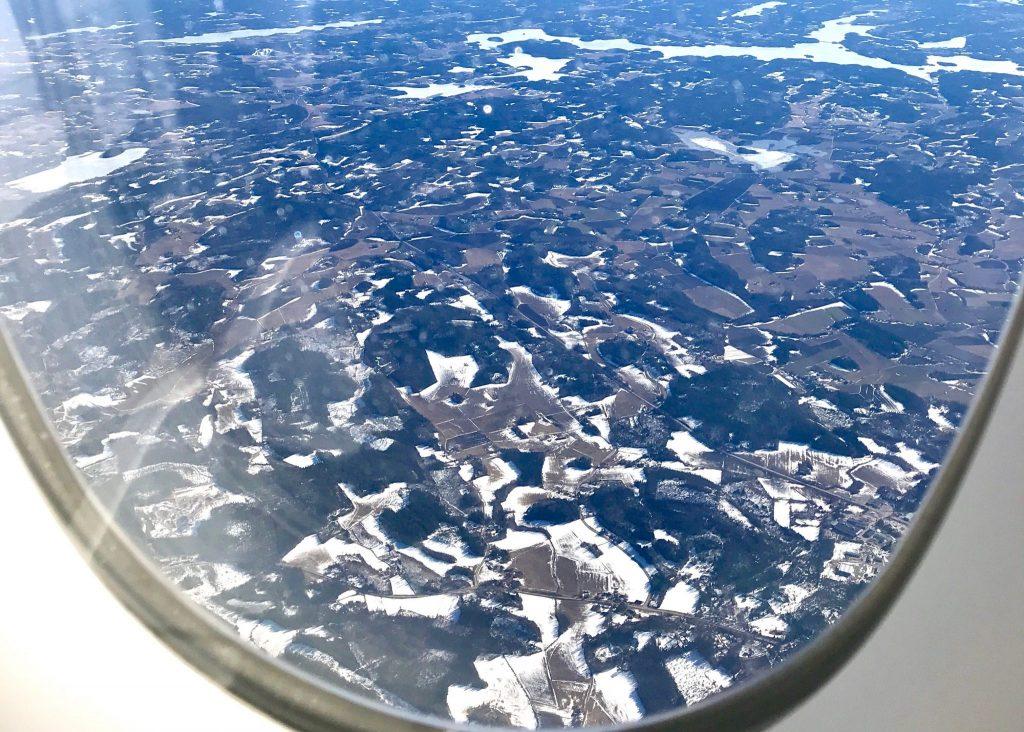 Finnair A350 window view