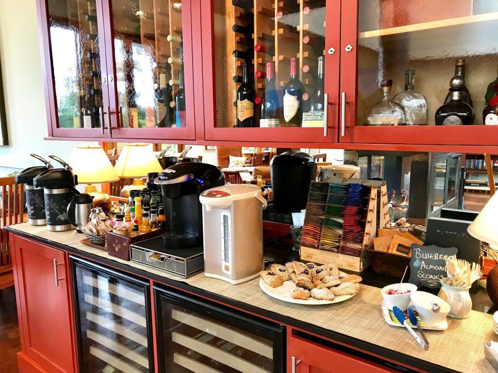 breakfast bar at Brewery Gulch Inn