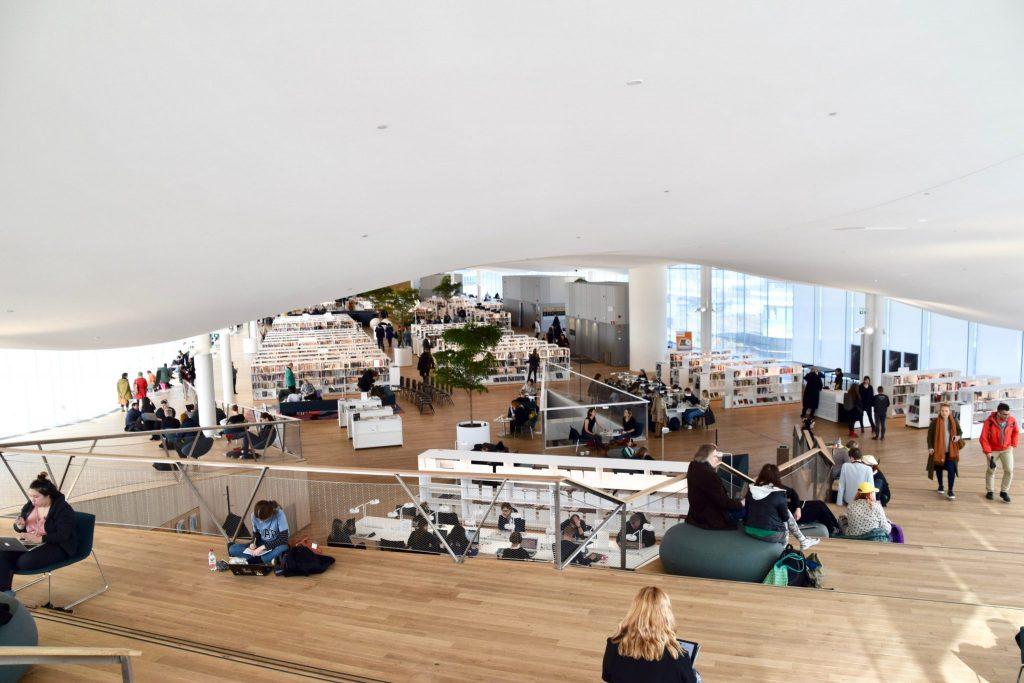 Library Oodi top floor interior, Helsinki Finland