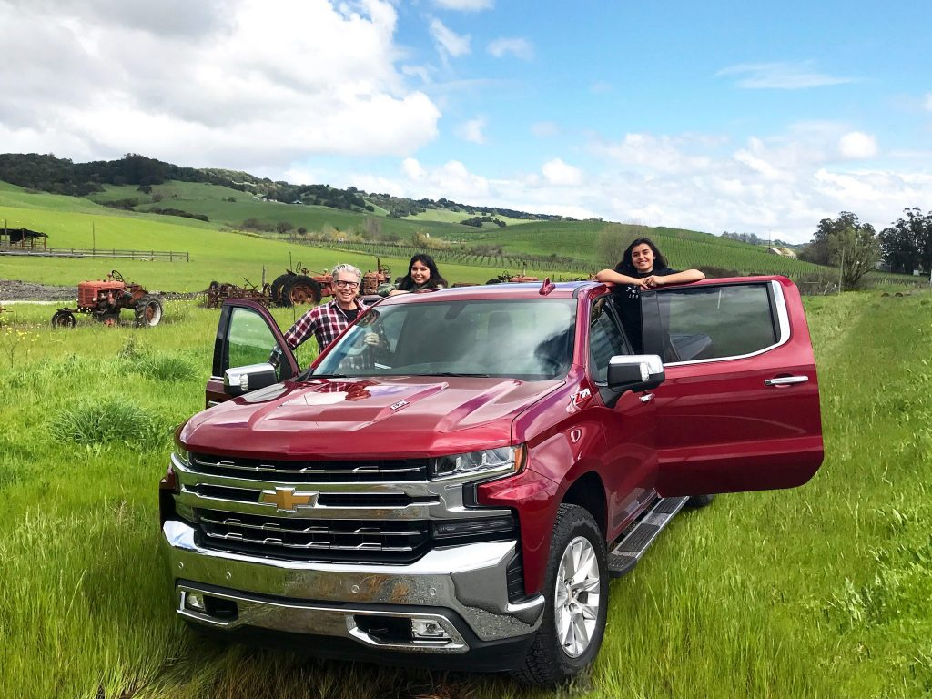 family with Chevrolet Silverado
