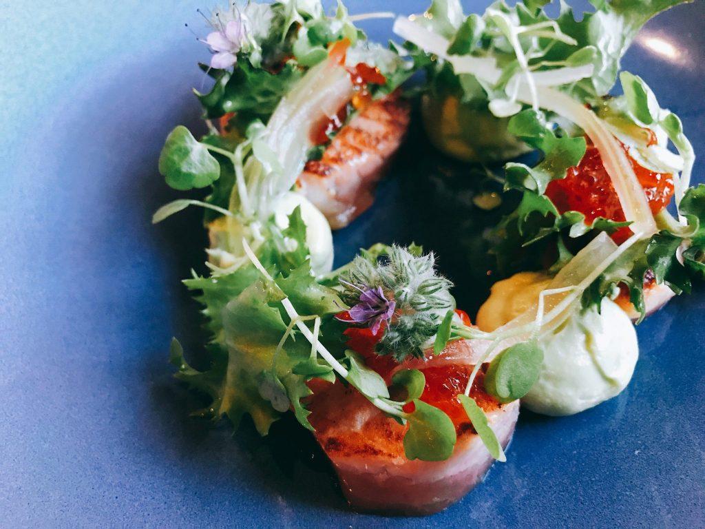 Cafe Maison seafood salad, Helsinki Finland