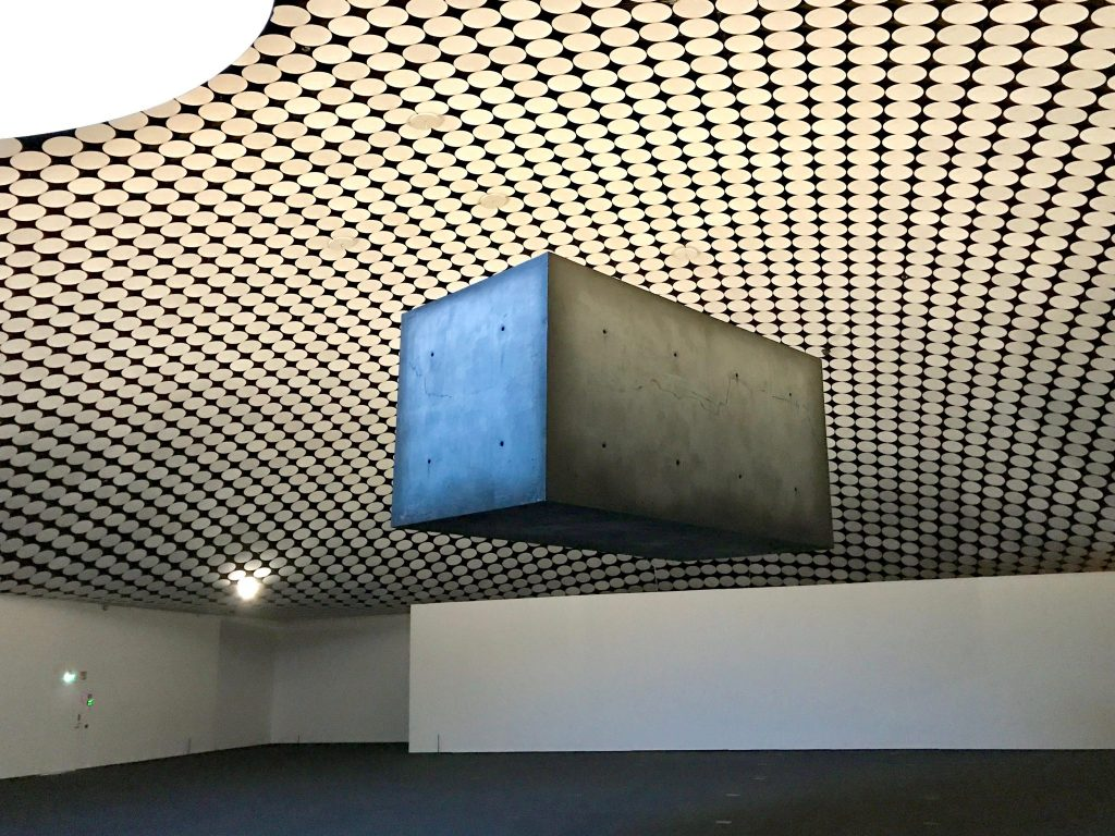 Floating cube Amos Rex Museum, Helsinki Finland
