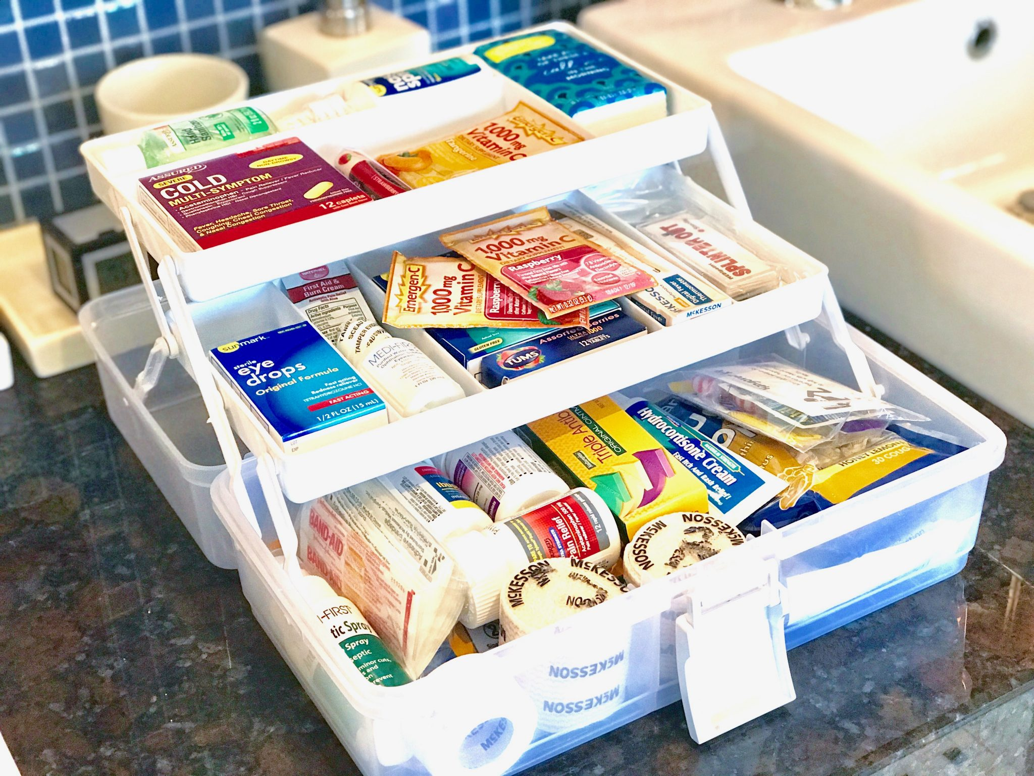 First aid kit stocked full